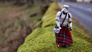 Darryll Jones photograph of Star Wars stormtrooper in Cairngorms