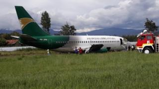 pesawat tergelincir di Wamena