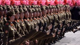 မြောက်ကိုရီးယား တပ်မတော်နေ့ စစ်ရေးပြပွဲကြီး