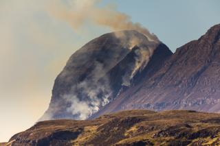 Last week's wildfire near Lochinver