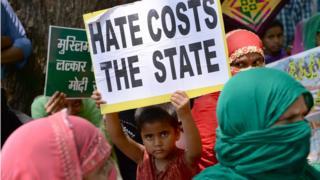 Protest against Dalit discrimination in Delhi