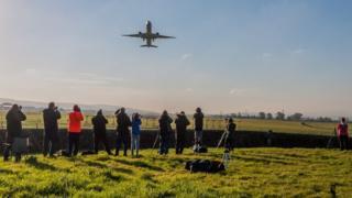 Decolagem de Boeing 777