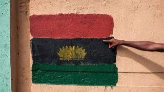 Hand Painted Biafra Flag