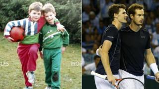 Jamie y Andy Murray - de niños y adultos