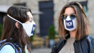 donald trump news Members of the citizens' group Noi Denunceremo (We will report) at prosecutor's office in Bergamo, 10 Jun 20