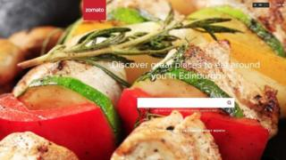 Zomato website