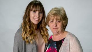 Fashion student Lauren Milburn and her grandmother Denise Pounder