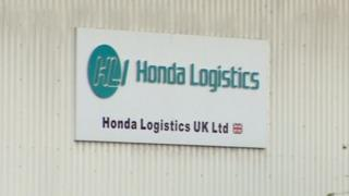 Honda Logistics sign