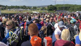 Queues at Isle of Wight Festival