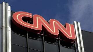 File image of CNN logo in Hollywood, US