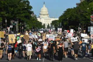 Black Lives Matter march in Washington D.C.