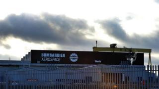 Bombardier's factory in east Belfast
