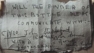 Message written on cardboard
