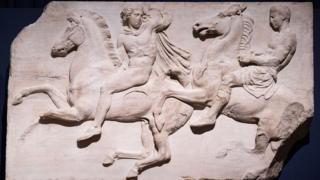 Mármoles del Partenón de Atenas.