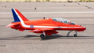 Model of RAF Red Arrows aircraft
