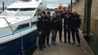 Российская команда, впервые преодолевшая Ла-Манш в обе стороны.