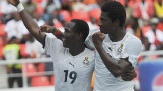 Ghana football team dey celebrate