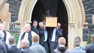 Coffin of Darren Rodgers