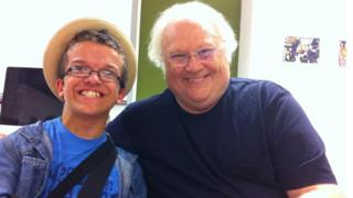 George Coppen with Colin Baker