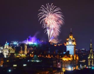 Fireworks over Edinburgh Castle taken from Calton Hill by Liam Yule of Auchterhouse