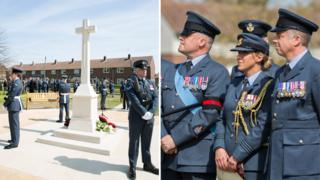 RAF Wittering century memorial and RAF personnel, 5 May 2016