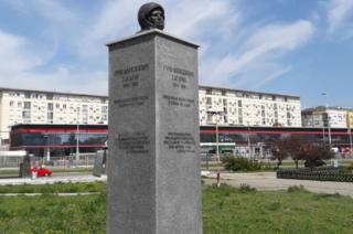 Bust of Yuri Gagarin in Belgrade