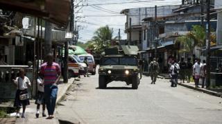 Patrulla del ejército en Buenaventura. Foto de acrhivo.