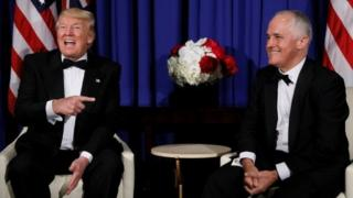 Rais wa Marekani Donald Trump na waziri mkuu wa Australia Malcolm Turnbull