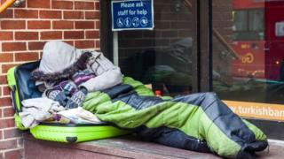 Londra'da sokakta yaşayan bir evsiz