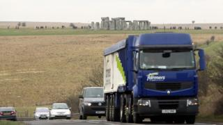 A303 passing Stonehenge