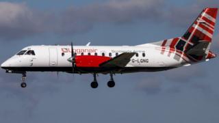 Loganair aircraft.