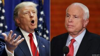 Donald Trump (left) and John McCain