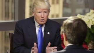 Ông Donald Trump trả lời phỏng vấn của Fox News ở Tháp Trump, New York