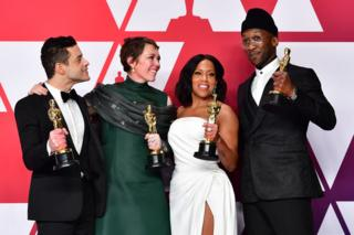 Mahershala Ali, Rami Malek, Olivia Colman and Regina King