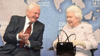 艾登堡爵士和女王伊丽莎白二世