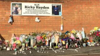 Flower tributes to Ricky Hayden