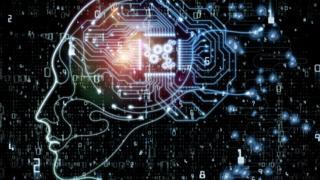 A digital cartoon of a human brain