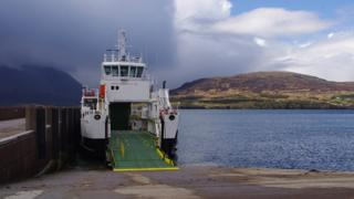 Ferry at Raasay pier