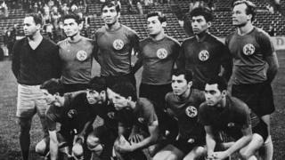 27 જૂન 1969ના મૅચ પહેલાં અલ સાલ્વાડોરની ટીમ