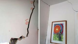 Cracks in wall