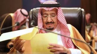 Saudi Arabia's King Salman bin Abdul Aziz al-Saud