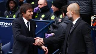 Antonio Conte (i bubamfu) na Pep Guardiola (i buryo)
