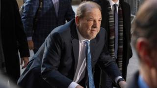 Harvey Weinstein arrives at New York Criminal Court