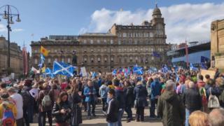 George Square protest