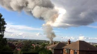 Smoke plume over West Bridgford