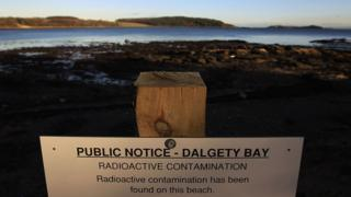 sign on Dalgety Bay beach