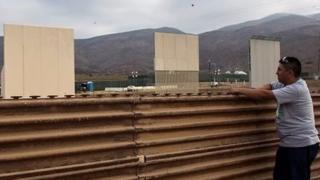 Prototipos de muros en la frontera de EE.UU. con México