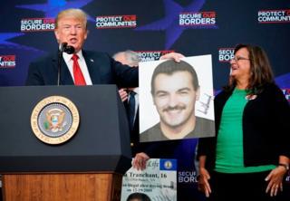 Trump dan korban kekerasan imigran gelap