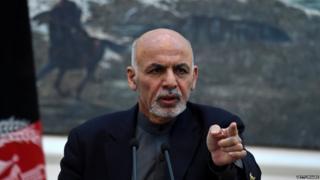 अफ़ग़ानिस्तान के राष्ट्रपति अशरफ़ ग़नी