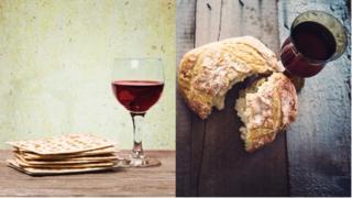 O 'matzá', iguaria judaica, e o pão e vinho, parte de celebrações cristãs